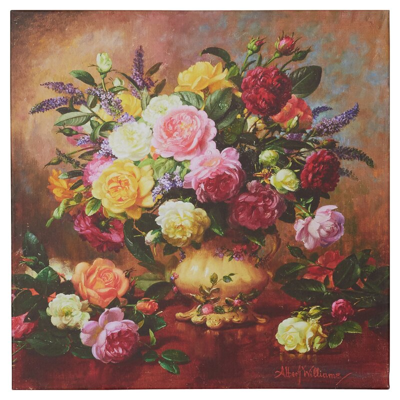 Alcott Hill Roses From A Victorian Garden By Albert Williams Painting Print On Wrapped Canvas Reviews Wayfair Ca