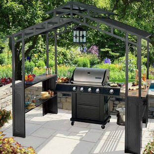 Kennedy 8 Ft. W x 5 Ft. D Metal Grill Gazebo by Sunjoy