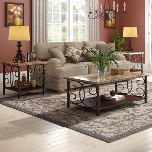 Fleur De Lis Living Lara 3 Piece Coffee Table Set