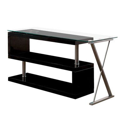 Folden Computer Desk Color: Black by Brayden Studio
