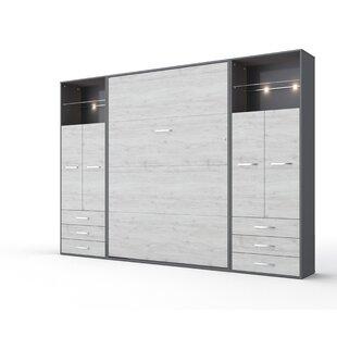 Marten Twin Storage Murphy Bed with Mattress by Latitude Run