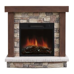 Urban Mountain Lodge Electric Fireplace by S..
