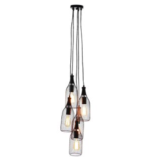 Hodder 5-Light Cluster pendant by Williston Forge