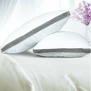 Isadora Premium Quality Gusseted Quilted Fiber Pillow (Set of 2) ByAlwyn Home