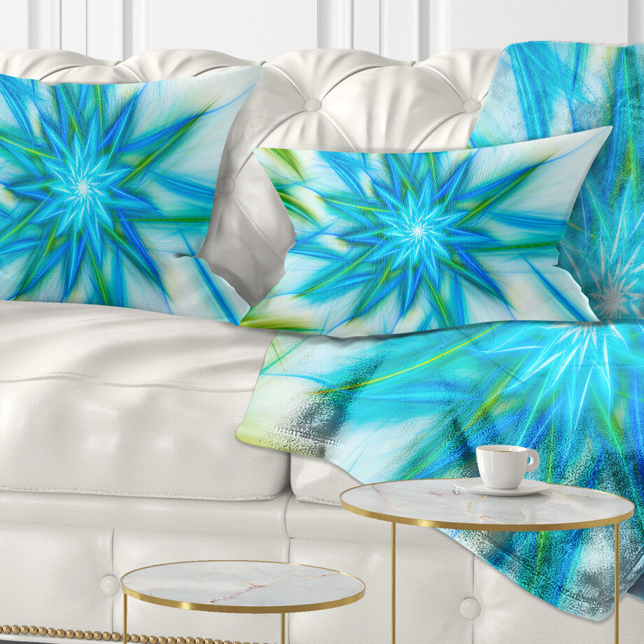 East Urban Home Abstract Fractal Shining Bright Star Lumbar Pillow Wayfair