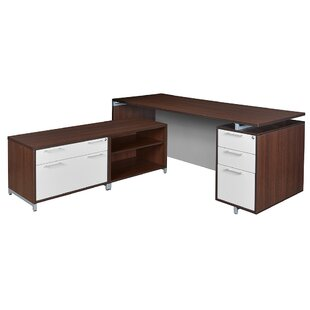Brayden Studio Maverick 2-Piece L-Shape Desk Office Suite