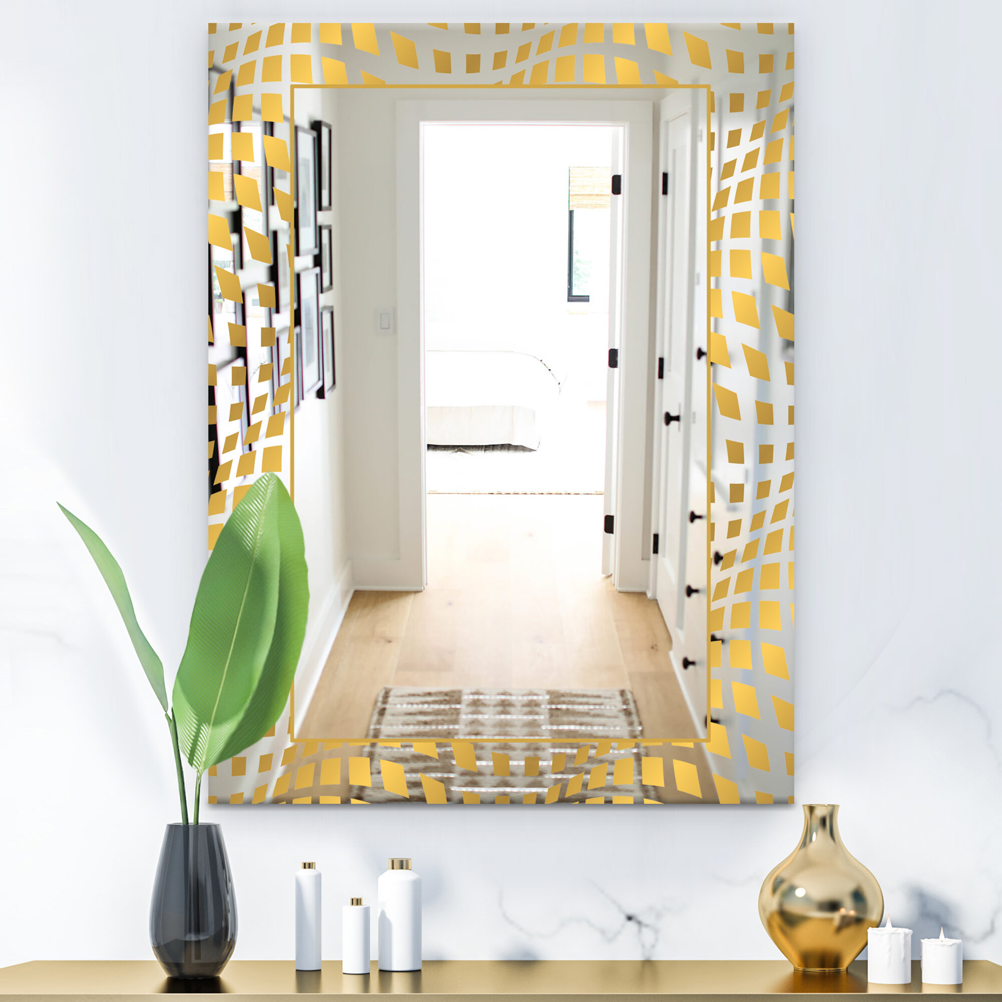 East Urban Home Capital Essential Glam Accent Mirror Wayfair Ca