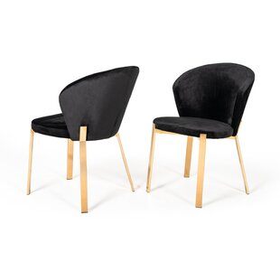 Chorleywood Upholstered Dining Chair (Set of 2) Everly Quinn
