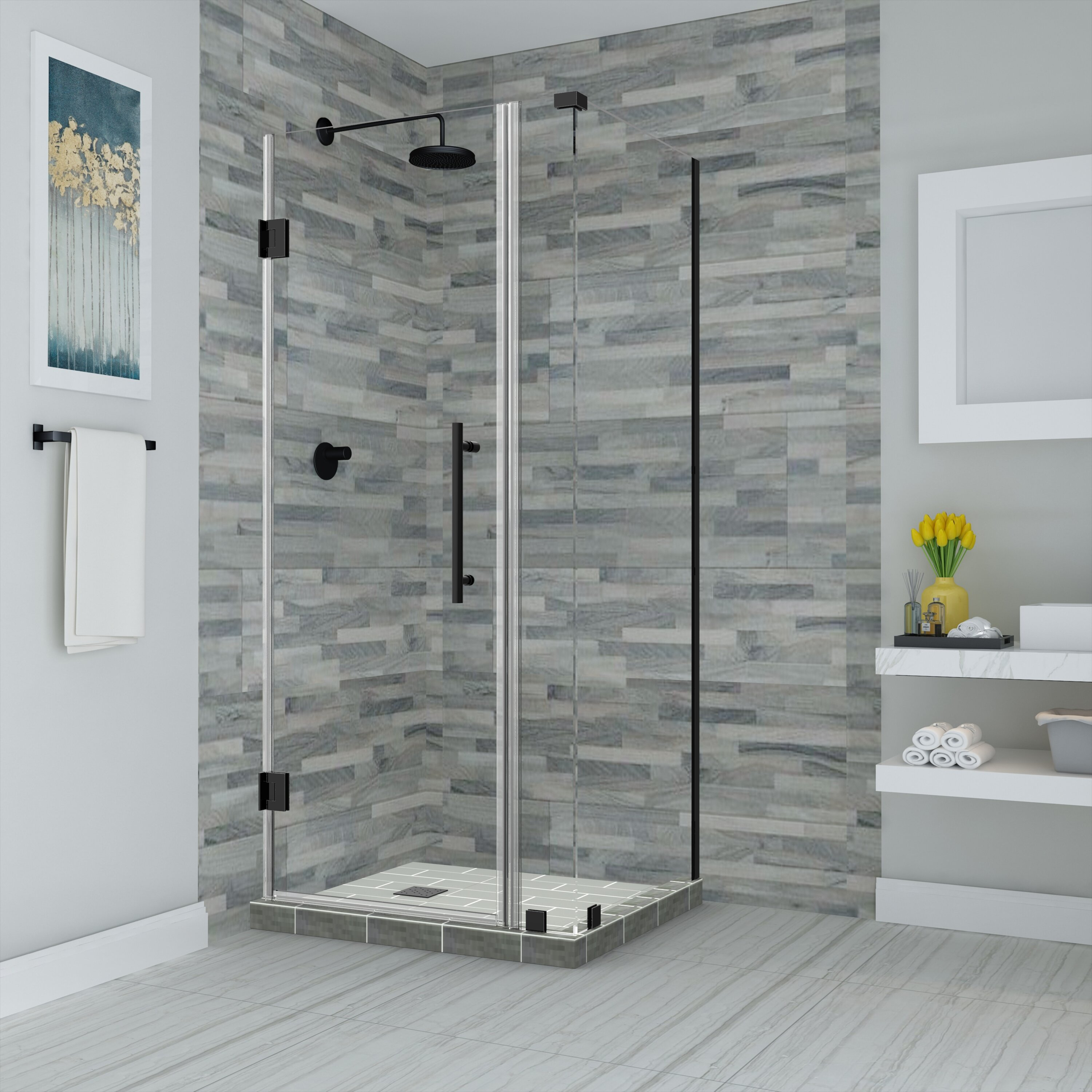 Aston Bromley 38 X 72 Rectangle Hinged Shower Enclosure Wayfair