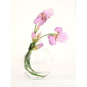 Silk Iris Disc Vase
