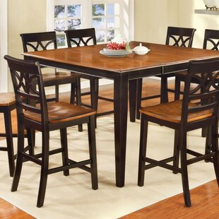 Granli Cottage Counter Height Solid Wood Dining Table by Fleur De Lis Living