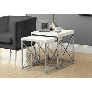 Hitching 2 Piece Nesting Table Set by Latitude Run