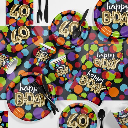 16 LADYBUG DESSERT PLATES BIRTHDAY also available BALLOONS NAPKINS,TABLE COVERS