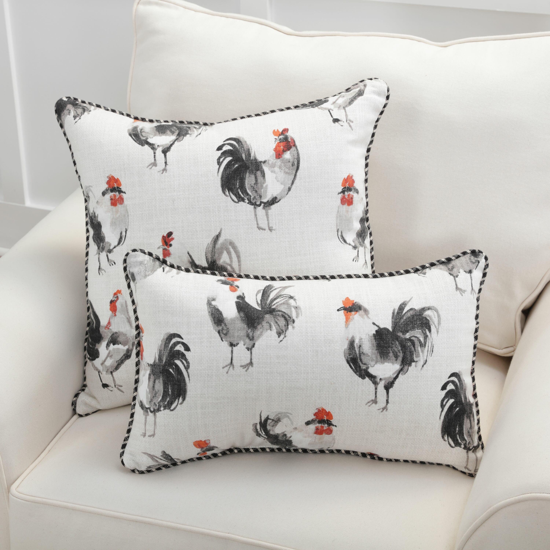 Gracie Oaks Espinal Rooster Cotton Lumbar Pillow Reviews Wayfair