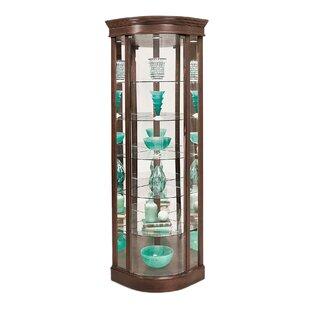 Philip Reinisch Co. Auberge Lighted Corner Curio Cabinet