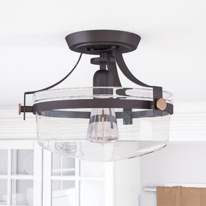 Celia 1-Light Semi Flush Mount