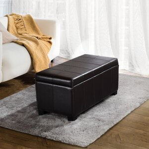 Hampshire Leather Storage Ottoman by Alcott Hill