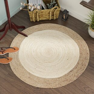 Eisley Hand-Woven Ivory/Natural Area Rug by Beachcrest Home