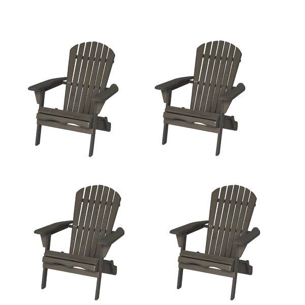 Rosecliff Heights Bettina Solid Wood Folding Lightweight Adirondack Chair Wayfair
