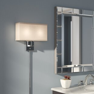 Plug in wall sconces youll love wayfair puccio 2 light plug in armed sconce aloadofball Gallery