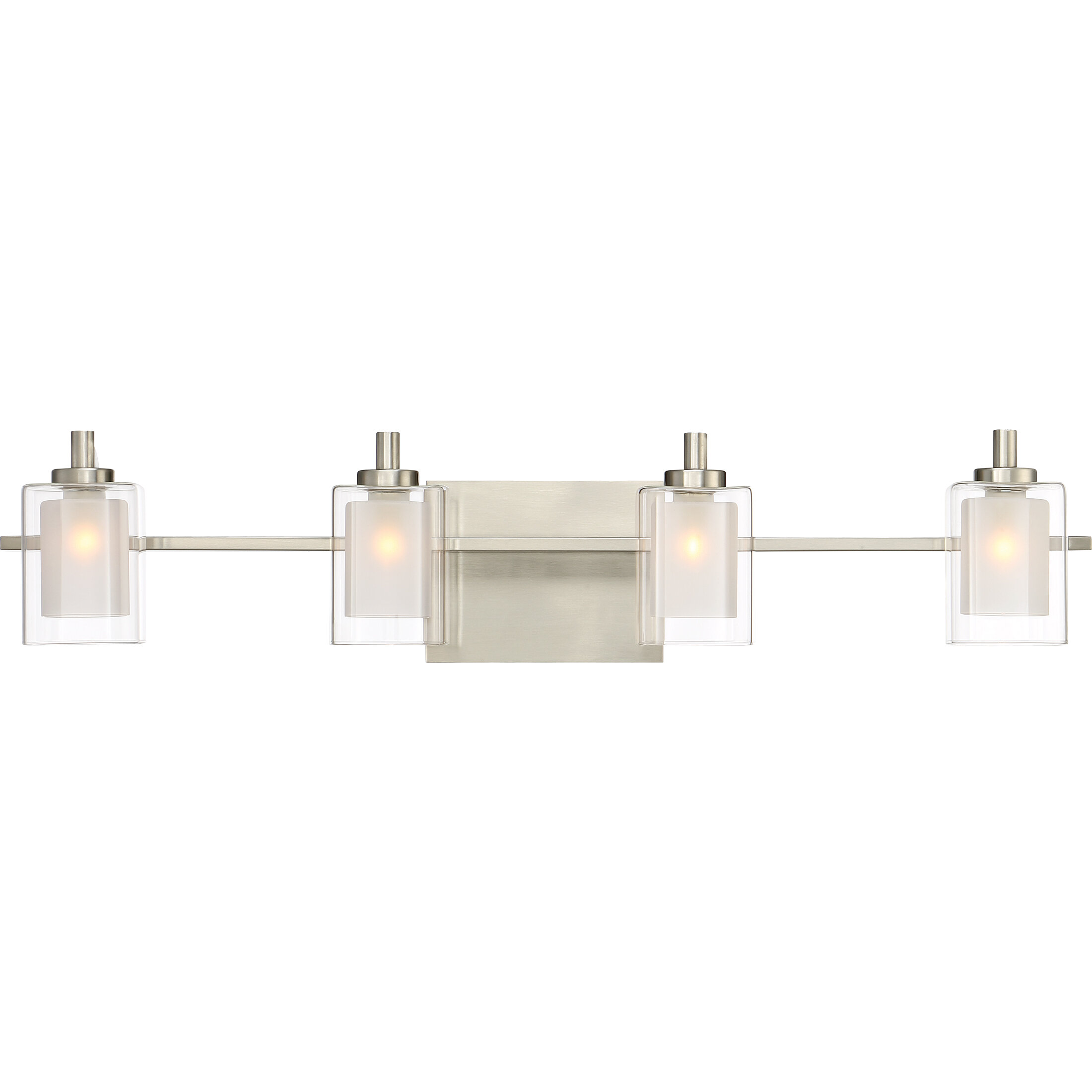 Contemporary vanity lighting Innovative Allmodern Aldrich 4light Vanity Light Reviews Allmodern