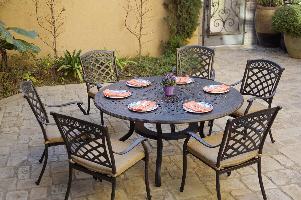 Shop Chardon 7 Piece Dining Set With Cushions By Fleur De Lis Living Online