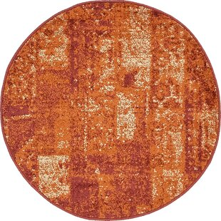 Bannan Stain-Resistant Terracotta Area Rug by Trent Austin Design