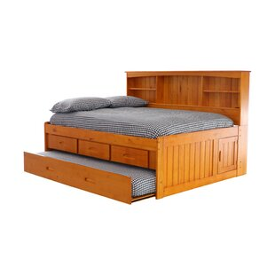 Norberto Mates Bed with Trundle Drawers and Shelves by Greyleigh