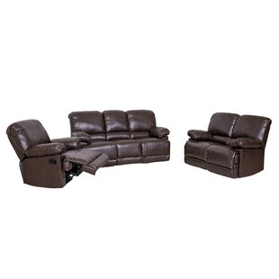Coyer Reclining 3 Piece Living Room Set by Red Barrel Studio
