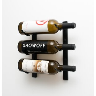 3 Bottle Metal Wall Mounted Wine Rack by VintageView