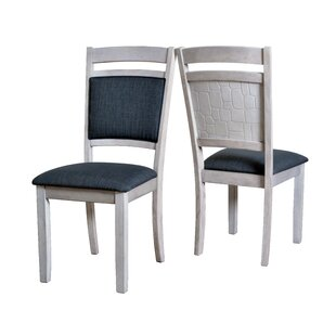 Pickney Embossed Upholstered Dining Chair (Set of 2) by Latitude Run