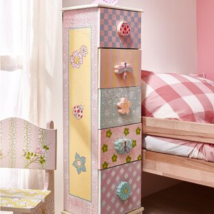 Buy clear Crackled Rose 5 Drawer Chest by Fantasy Fields Reviews (2019) & Buyer's Guide