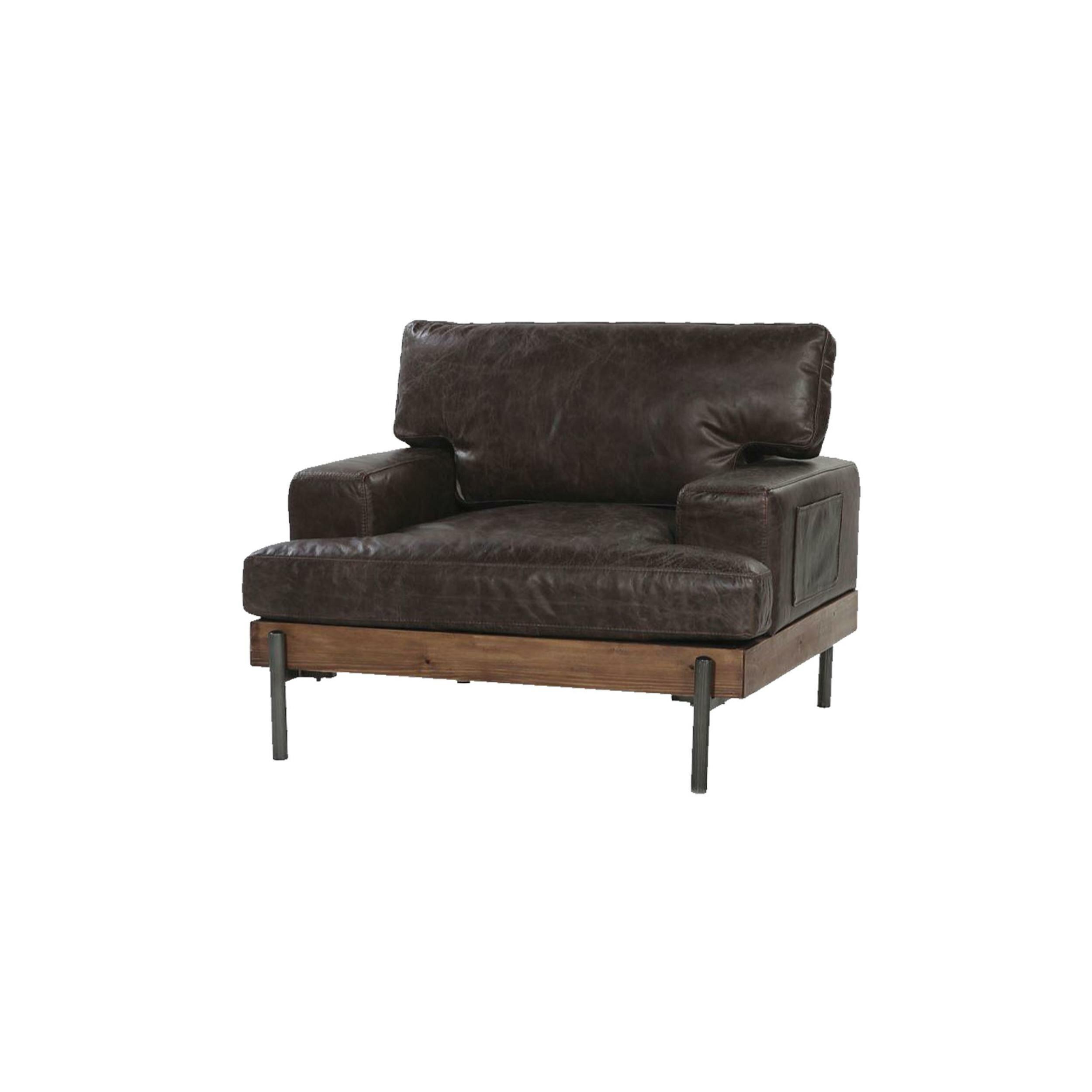 Sensational Toulouse Vintage Leather And Wood Armchair Creativecarmelina Interior Chair Design Creativecarmelinacom
