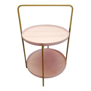 Bungalow Rose Beahm Metal Tray Table