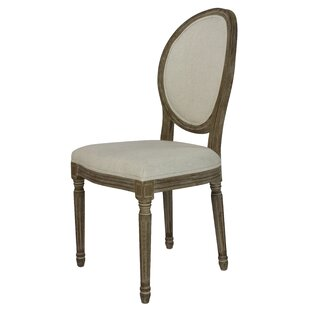 Affordable Price Auclair Weathered Upholstered Dining Chair (Set of 2) by One Allium Way Reviews (2019) & Buyer's Guide