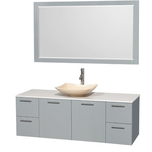 Shopping for Amare 60 Single Dove Gray Bathroom Vanity Set with Mirror ByWyndham Collection