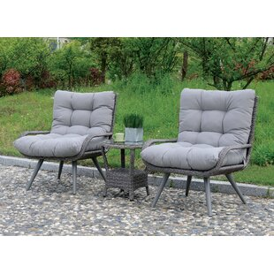 Hammitt Contemporary Patio Chair with Cushions (Set of 2)