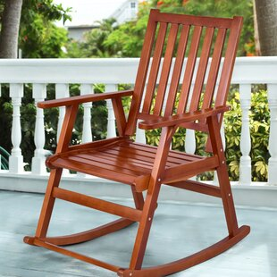 Bay Isle Home Sizemore Wood Rocking Chair
