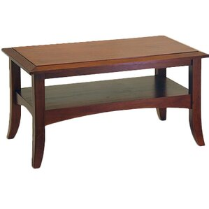 Levin Antique Walnut Coffee Table by Charlton Home