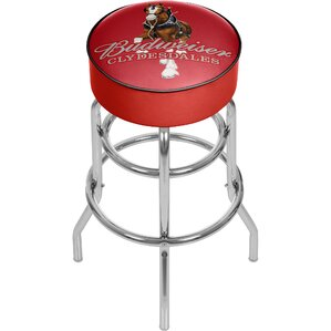 Budweiser Clydesdale Swivel Bar Stool by Trademark Global