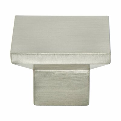 Berenson Elevate Square Knob Color: Brushed Nickel