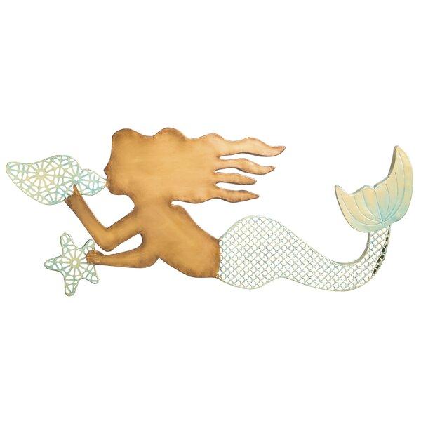 Charming Beachcrest Home Metal Mermaid Wall Decor U0026 Reviews | Wayfair
