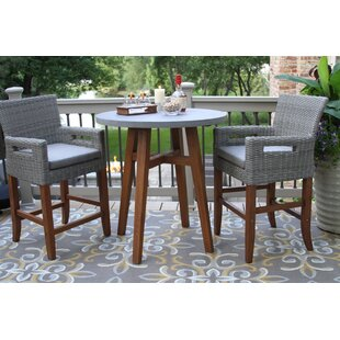 Jordan 3 Piece Bistro Set with Cushions