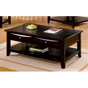 Steer Rectangular Coffee Table With Storage by Latitude Run Top Reviews