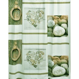 Design Nature Bathroom Peva Liner Shower Curtain by Evideco