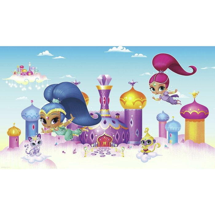 Shimmer And Shine Xl Chair Rail Prepasted 105 X 72 Wall Mural