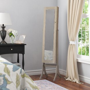 Jedidiah Jewelry Armoire with Mirror by Andover Mills