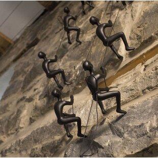 5 Piece Climbing Man Wall Décor Set