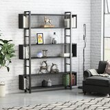 Ayling 71 H x 47.2 W Metal Geometric Bookcase by 17 Stories