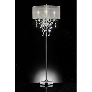 Best Reviews Rosalie Crystal 63 Candelabra Floor Lamp By Willa Arlo Interiors